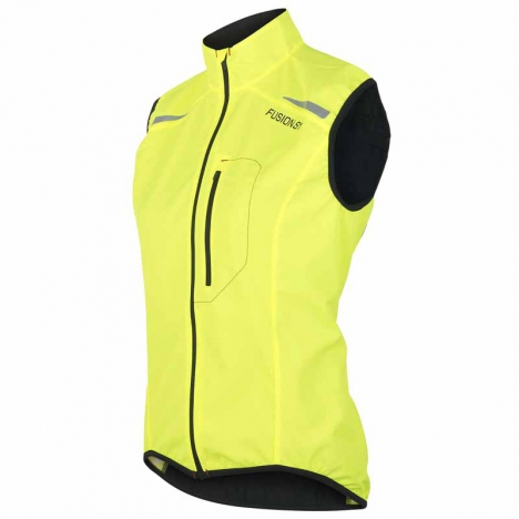 FUSION WMS S1 RUN Vest yellow/black for women