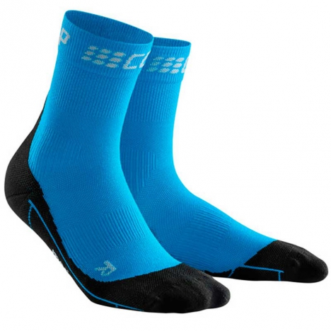 CEP men Compression Winter Short Socks, electric blue/black