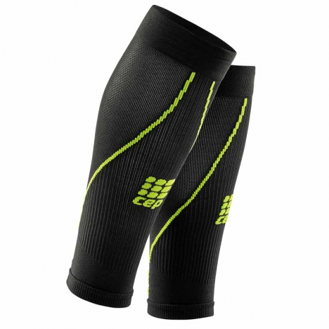 CEP men pro+ calf sleeves 2.0 black/green