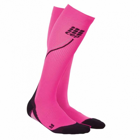 CEP women progressive+ night run socks flash pink/black