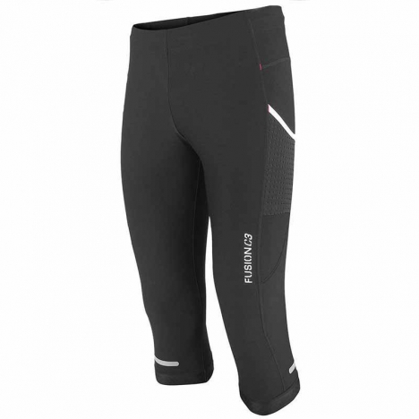FUSION C3 SHORT TIGHTS black/black Unisex