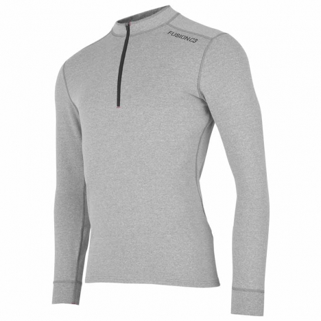 FUSION MENS C3 Zip Neck grey für Herren