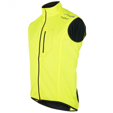 FUSION MENS S1 RUN Vest yellow/black for men