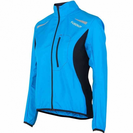 FUSION WMS S1 RUN Jacket surf/black for women