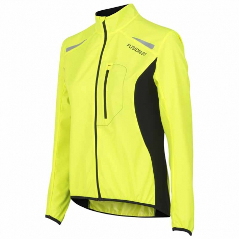 FUSION WMS S1 RUN Jacke yellow/black for women
