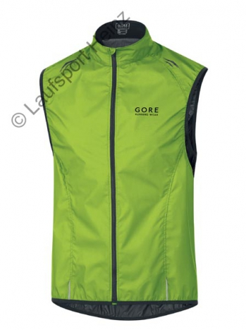 GORE Running AIR 2.0 Active-Shell LIGHT Vest Windstopper® lime-green für Herren