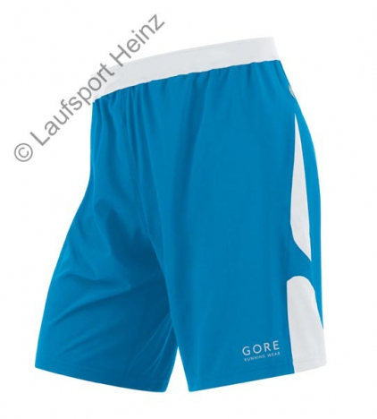 GORE RUNNING WEAR AIR 2in1 Shorts splash-blue/white für Herren