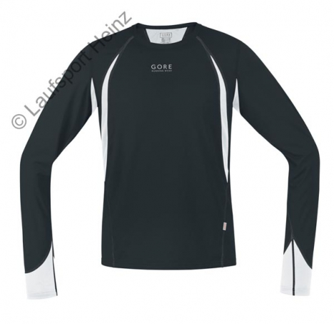 GORE Running AIR 4.0 Shirt lang black/white für Herren