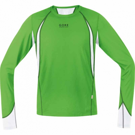 GORE Running AIR 4.0 Shirt lang kiwi/white für Herren