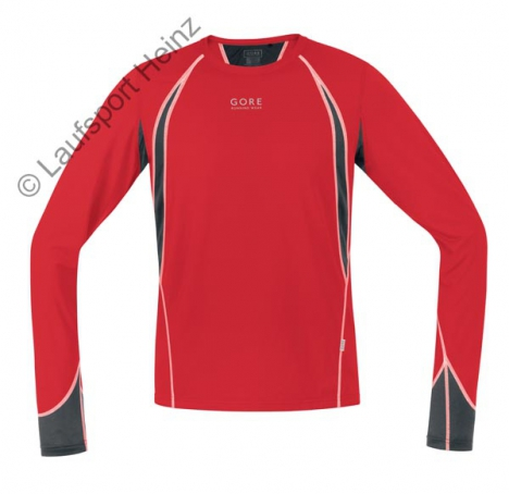 GORE Running AIR 4.0 Shirt lang red/black für Herren