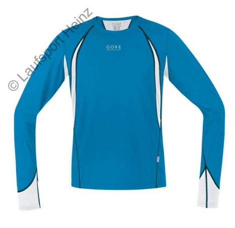 GORE Running AIR 4.0 Shirt lang splash-blue/white für Herren
