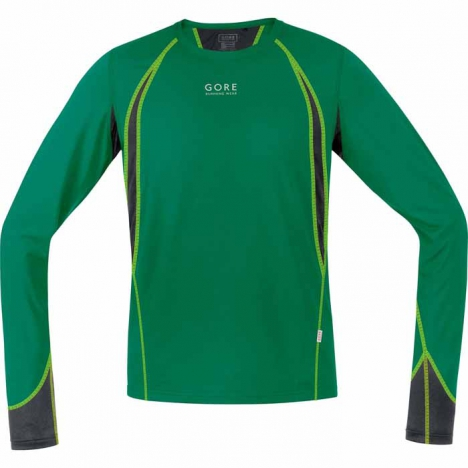 GORE Running AIR 4.0 Shirt lang varsity-green/black für Herren