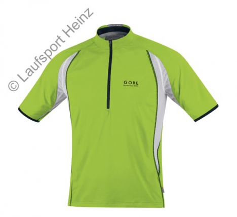 GORE RUNNING WEAR AIR Zip Shirt lime-green/schwarz für Herren