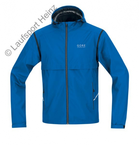 GORE Running ESSENTIAL Windstopper® Active-Shell Zip-Off Jacke azur-blau für Herren