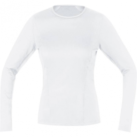 GORE Running ESSENTIAL Base-Layer LADY Shirt long white für Damen