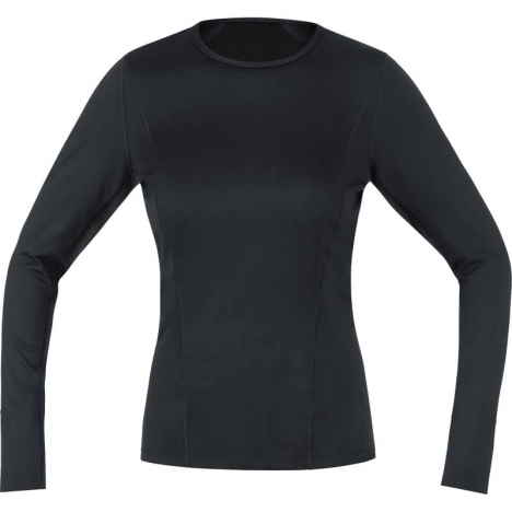 GORE Running ESSENTIAL Base-Layer LADY Thermo Shirt Long schwarz für Damen