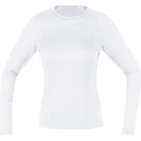 GORE Running ESSENTIAL Base-Layer LADY Thermo Shirt Long weiss für Damen