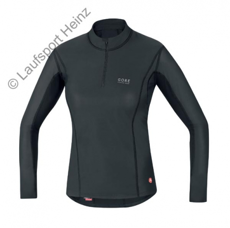 GORE Running ESSENTIAL Base-Layer Windstopper® LADY Turtleneck black for women
