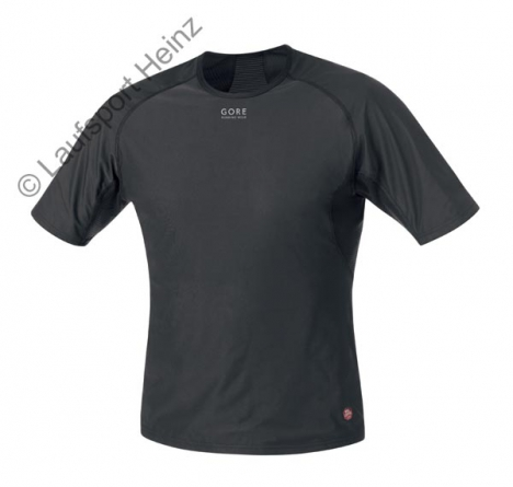 GORE Running ESSENTIAL Base-Layer Windstopper® Shirt  Windstopper® black for men