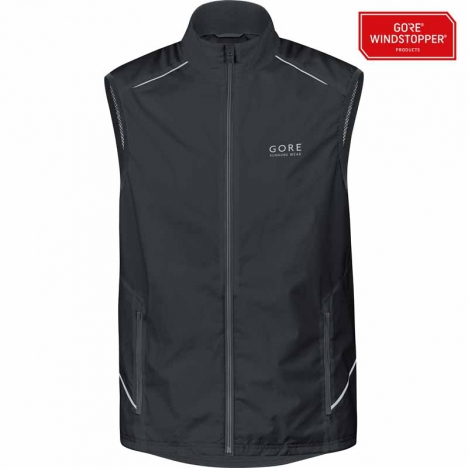 GORE Running ESSENTIAL Windstopper® Active-Shell Vest black for men