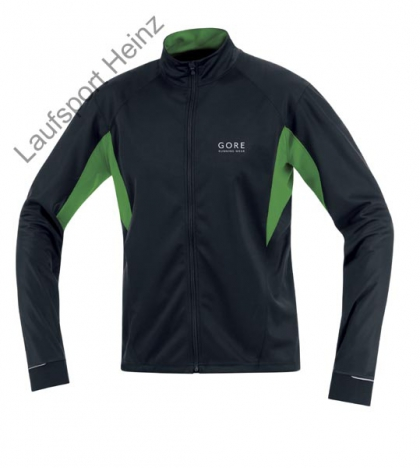 GORE Running FLASH Soft-Shell Jersey Windstopper® black/golden-green für Herren