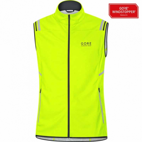 GORE Running MYTHOS 2.0 Windstopper® Soft-Shell Light Weste neon yellow für Herren