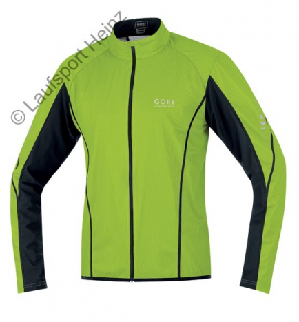 GORE Running PULSE Active-Shell Jacke Windstopper® lime-green/schwarz für Herren