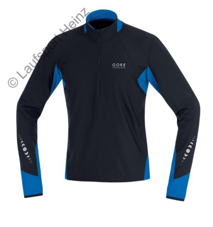 GORE Running PULSE Windstopper® Shirt  Windstopper® black/azure-blue for men