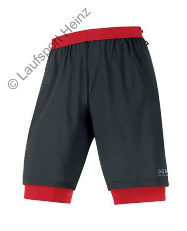 GORE Running X-RUNNING 2.0 Shorts black/red für Herren