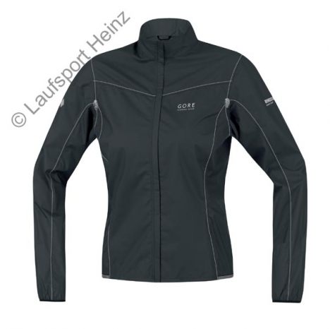 GORE Running X-RUNNING LIGHT Active-Shell LADY Jacket  Windstopper® black/silver-grey for women
