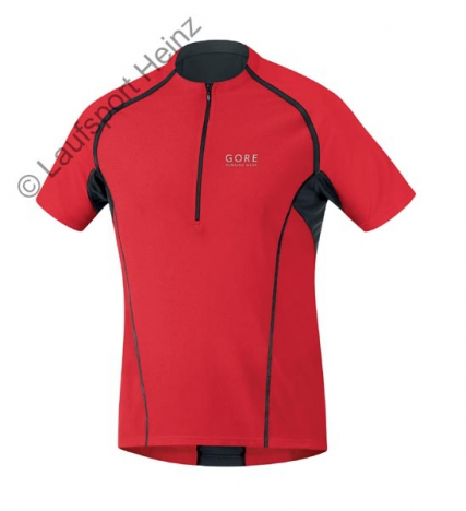 GORE Running X-RUNNING Zip Shirt red/black for men