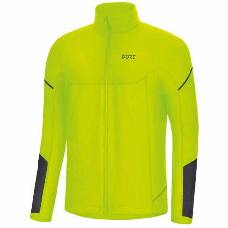 GORE® M Thermo Long Sleeve Zip Shirt neon yellow/black for men