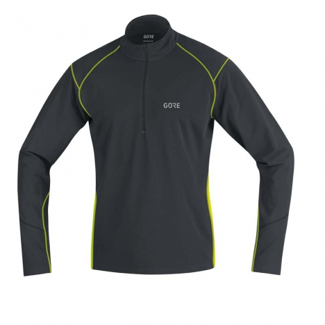 GORE® R3 Thermo Long Sleeve Zip Shirt black/neon...