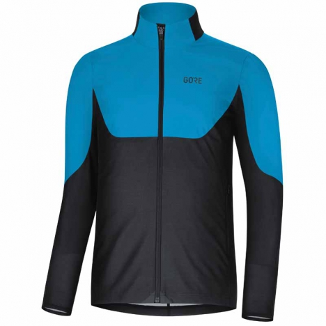 GORE® R5 GORE® WINDSTOPPER® Long Sleeve Shirt dynamic cyan/black for men