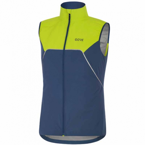 GORE® R7 Women Partial GORE-TEX INFINIUM Vest deep water blue/citrus green for women