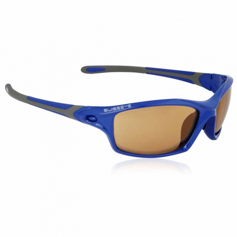 SWISS EYE Grip frame blue shiny/dark grey, lens photochromic orange-smoke
