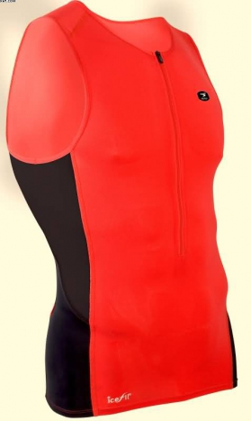Sugoi RS Ice Tri Tank chili red for men